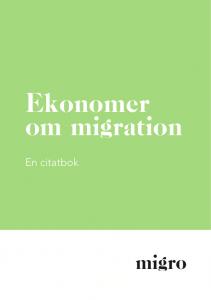 Ekonomer om migration